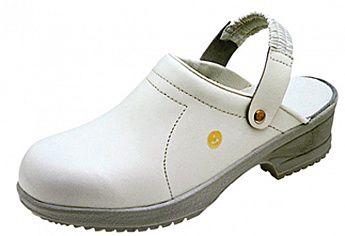 Антистатические туфли-сабо FILE белые